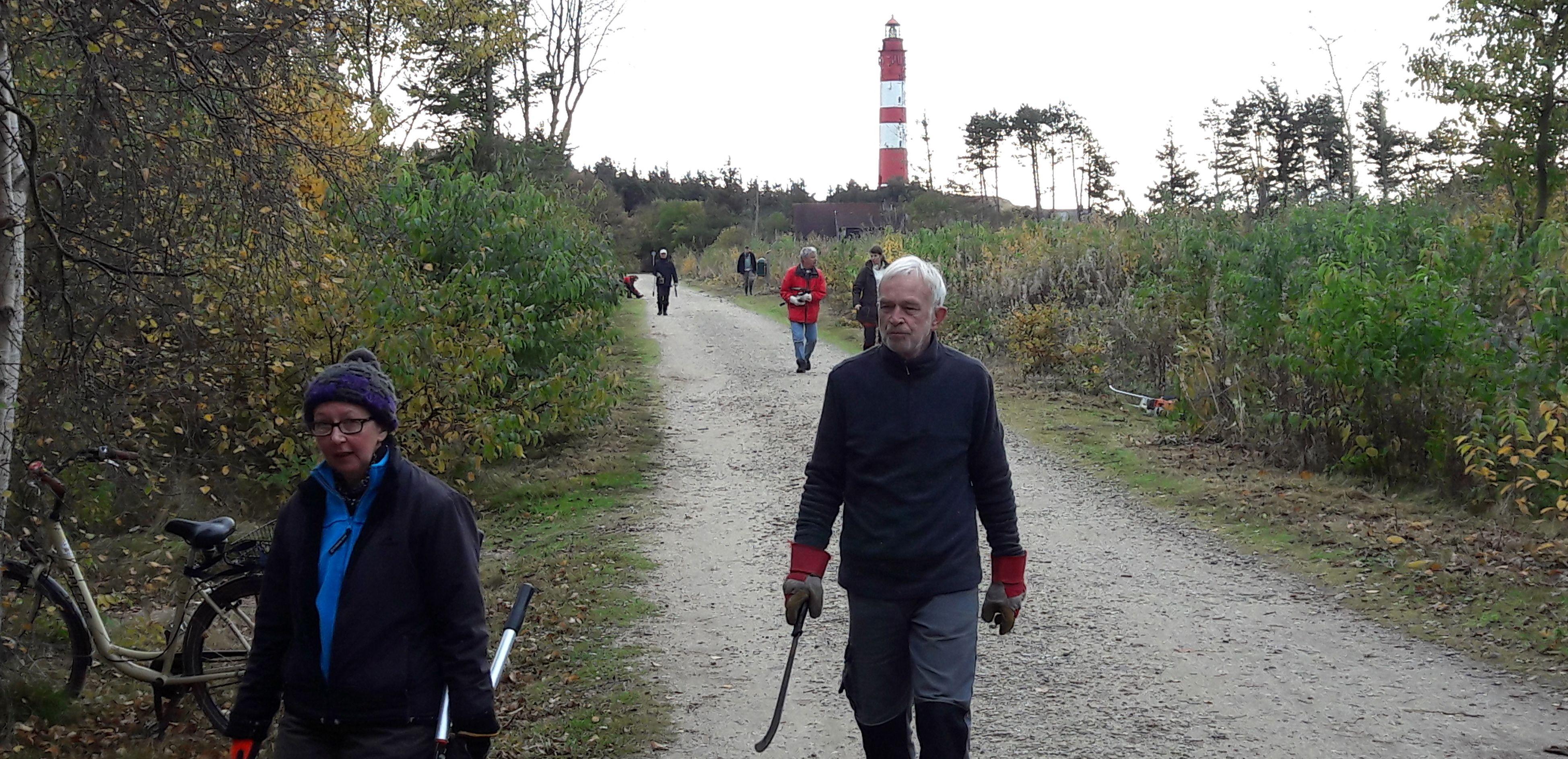 Der Leuchtturm weist den Weg zur Arbeitsfläche.