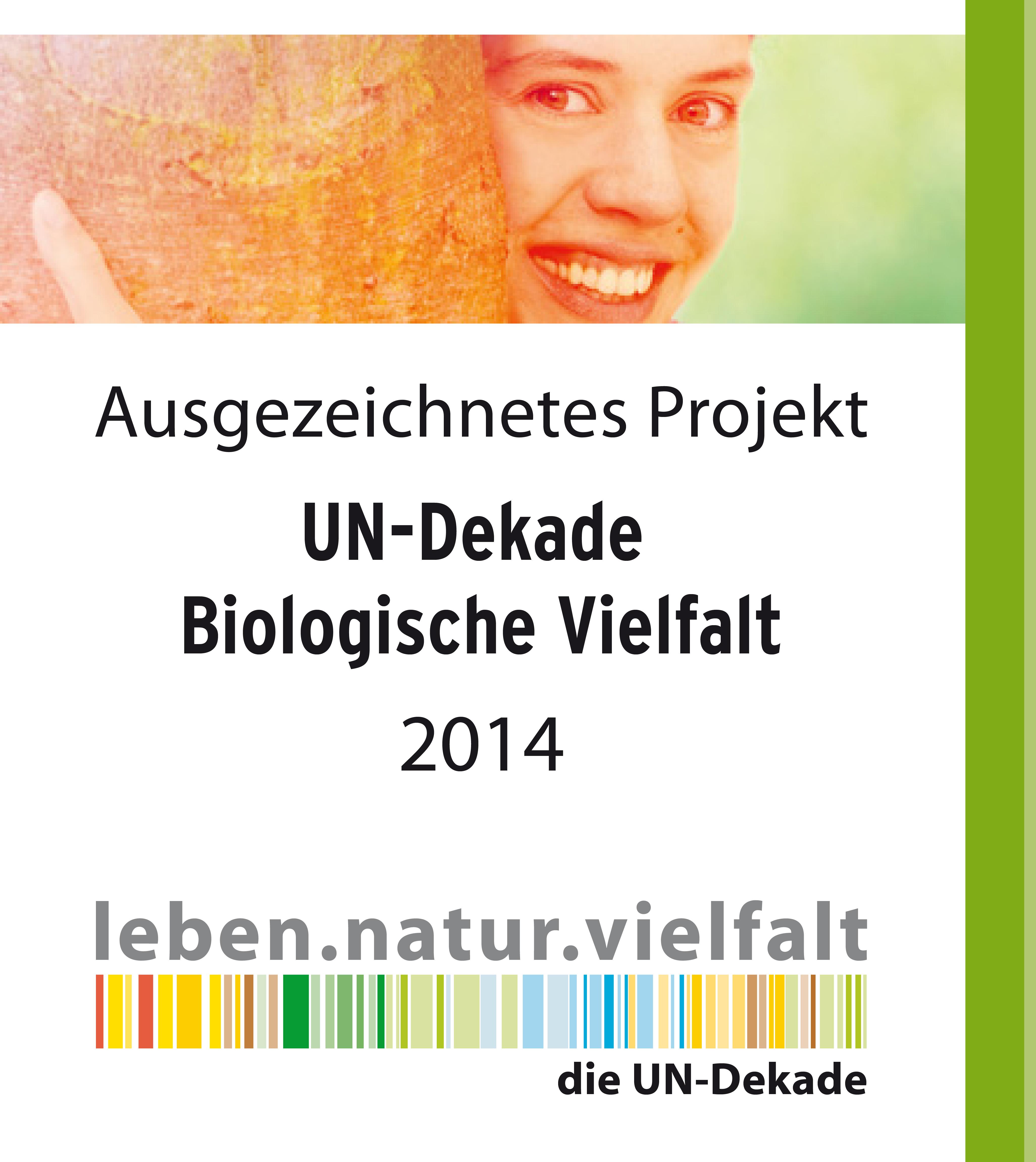 Auszeichnung UN-Dekade Biolgische Vielfalt 2014