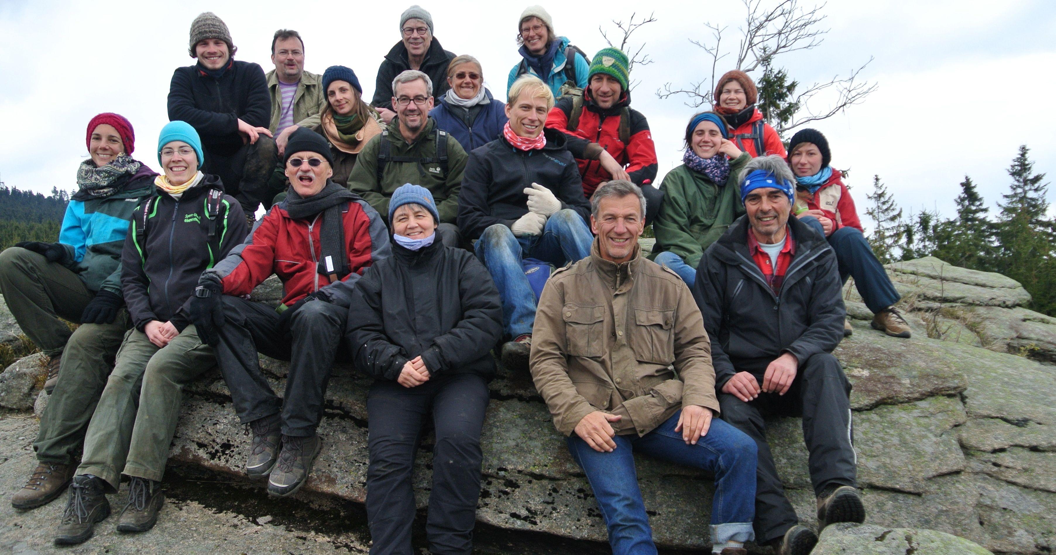 Das Team der Braunlage-Woche auf dem Berge