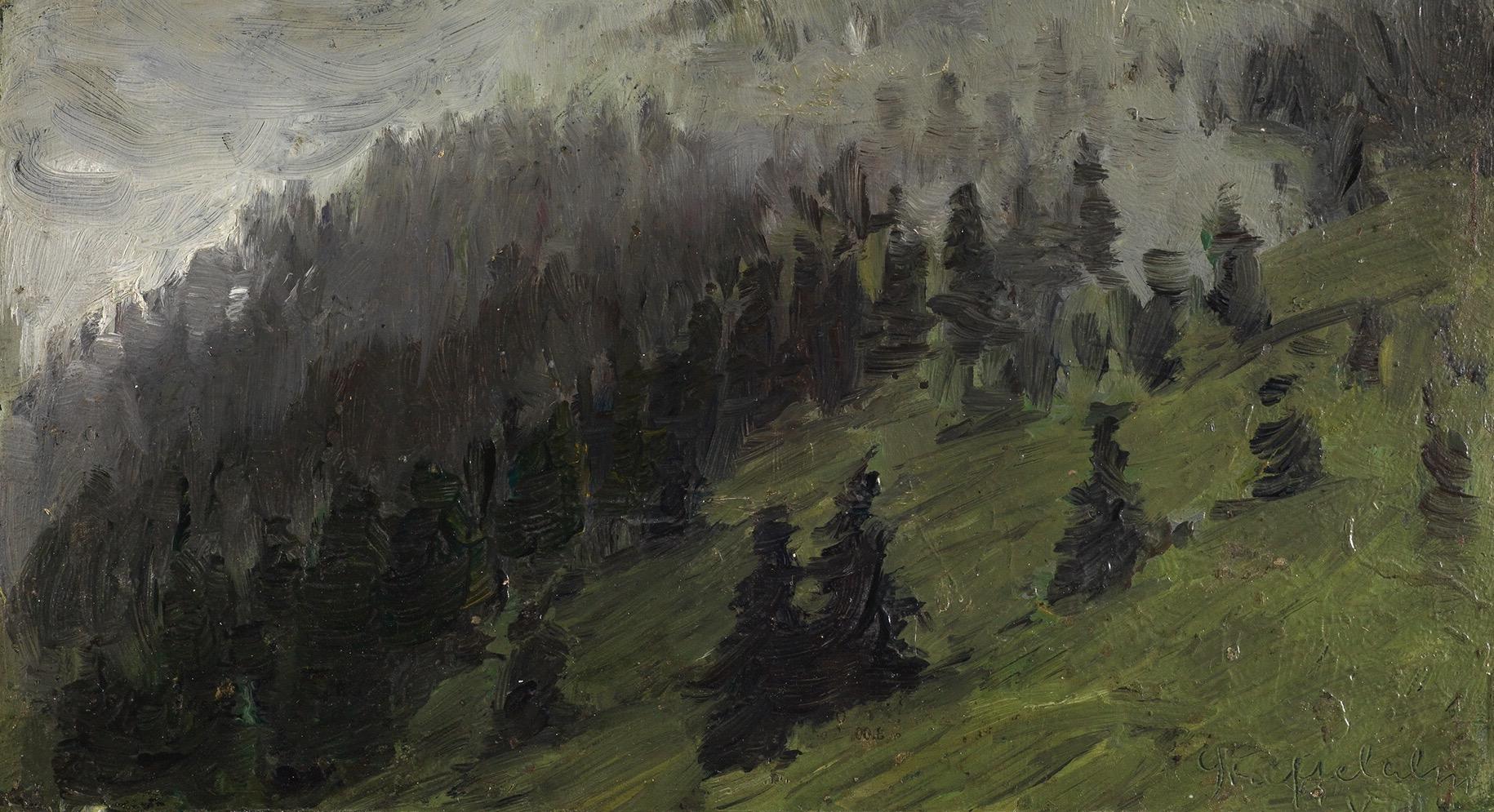 Franz Marc, Nebel zwischen den Tannen, 1905 © Staatliche Kunsthalle Karlsruhe/ bpk