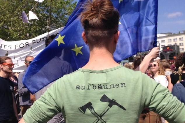 Aufbäumen in Hannover beim Klimastreik
