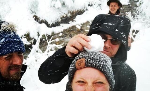 Schneefall in Schliersee