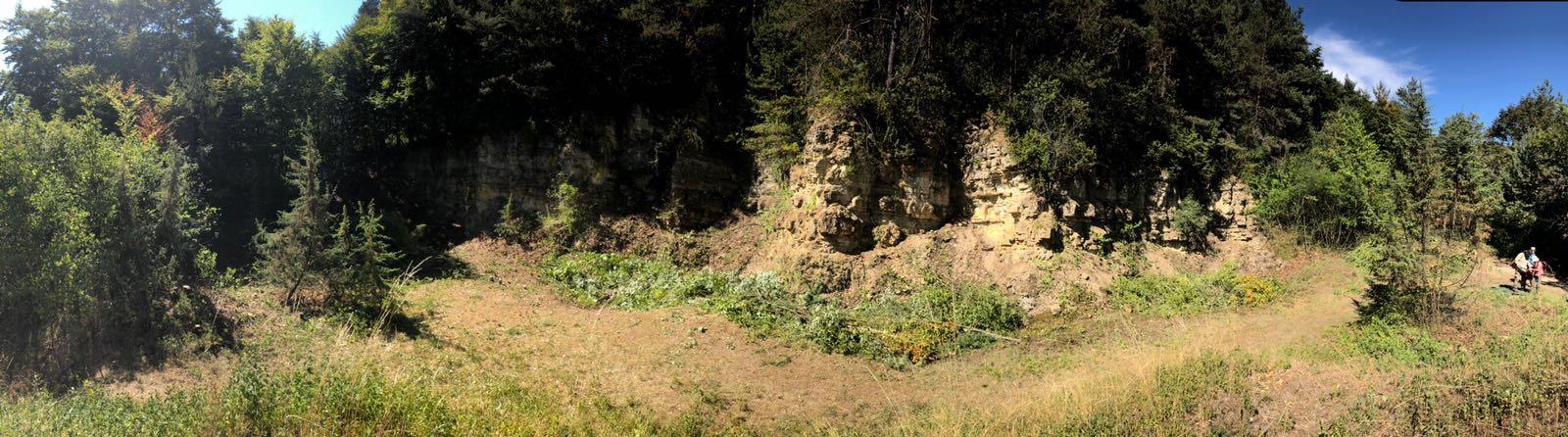 Kalksteinbruch schon halb enttarnt