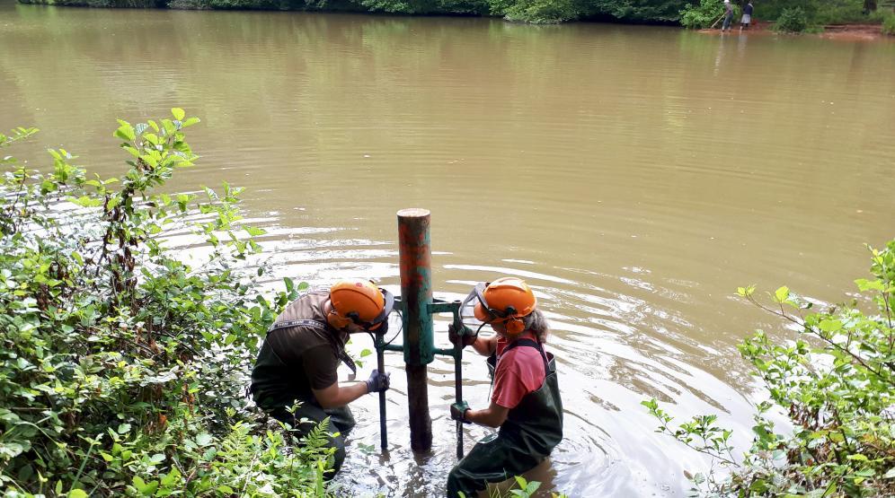 Unterwasserlöcherrammeneinsatz