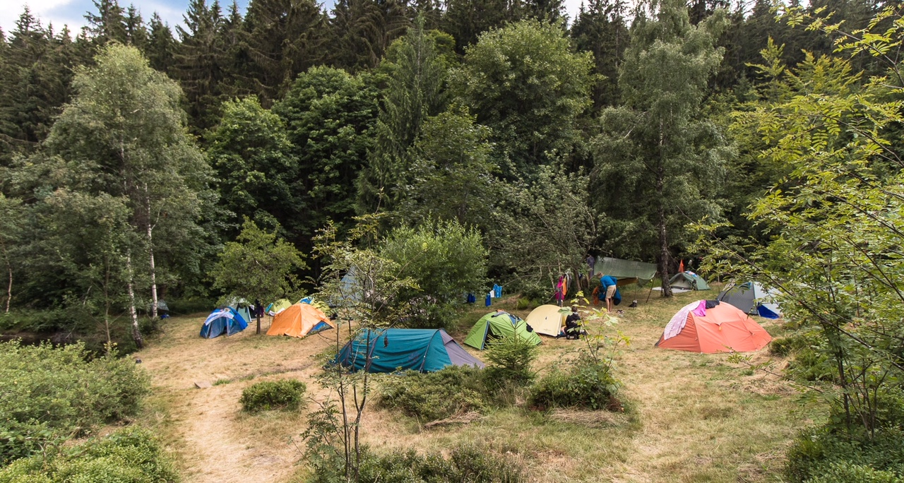 Das Bergwaldprojekt-Camp an der Finstermattenhütte