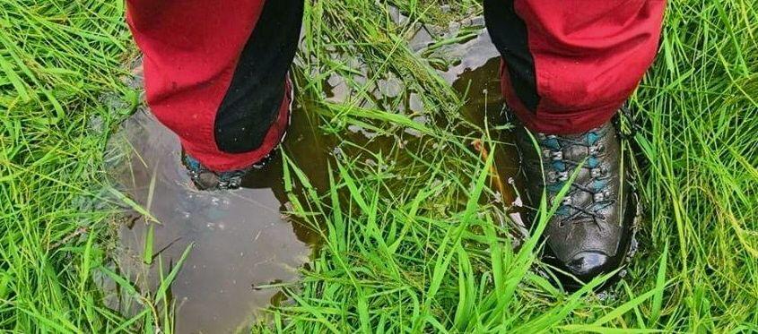 Und plötzlich wird es nass im Schuh...
