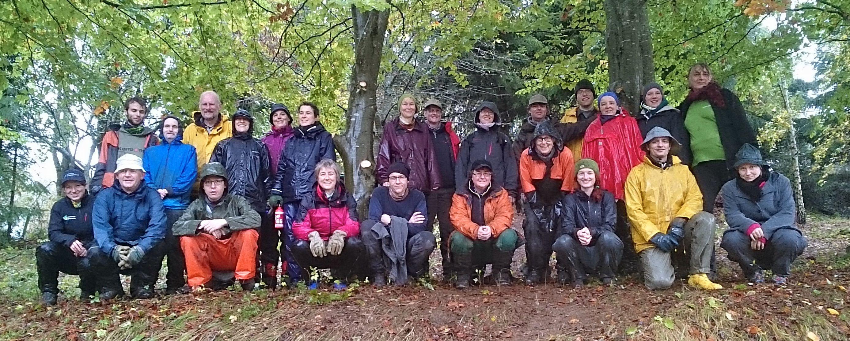 Freiwilligengruppenbild am Wacholderhang