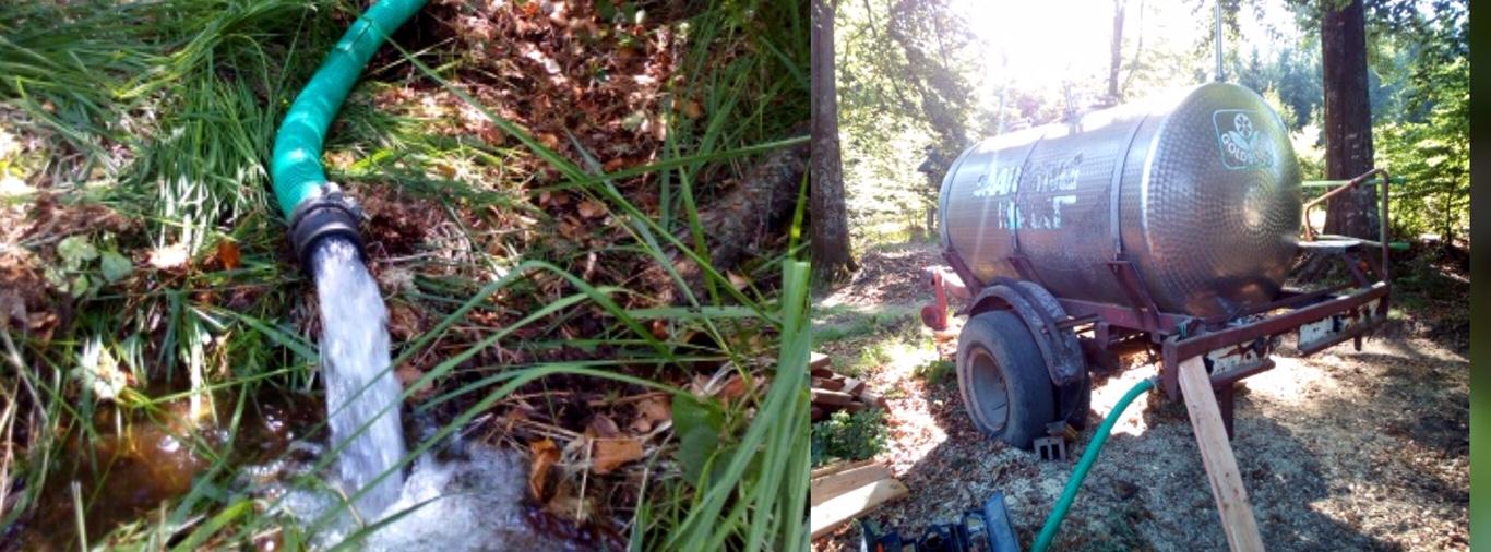 Wasser für ein Feuchtgebiet - vom Fass